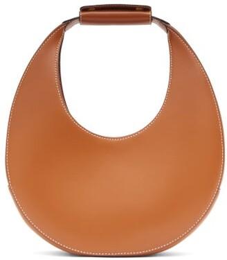 STAUD Moon Small Leather Shoulder Bag - Tan