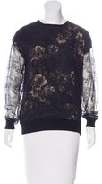 Jason Wu Floral Print Silk Top
