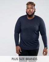 Tommy Hilfiger PLUS Crew Neck Sweater Cotton Silk in Navy