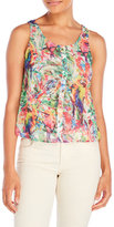 Yumi Tropical Parrot Print Sleeveless Top