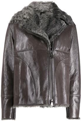 Manzoni 24 Zipped Shearling Jacket