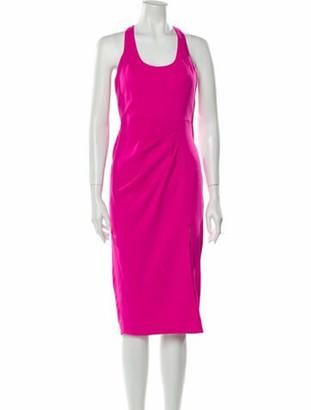 Jay Godfrey Scoop Neck Midi Length Dress w/ Tags Pink
