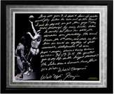"Steiner Sports New York Knicks Walt Frazier The Willis Reed Game Facsimile 16"" x 20"" Framed Metallic Story Photo"