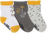 Robeez Yellow In the Garden Three-Pair Socks Set