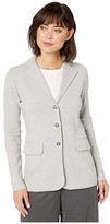 Lauren Ralph Lauren Sweater Knit Blazer (Pearl Grey Heather) Women's Jacket