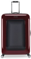 Ted Baker 'Large Burgundy' Four Wheel Suitcase - Burgundy