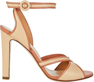 Francesco Russo Cross Strap Stiletto Sandals