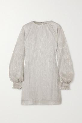 Vanessa Cocchiaro The Eleanor Metallic Plisse-chiffon Midi Dress
