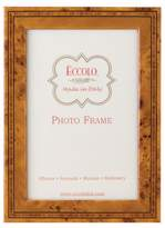 Eccolo Made in Italy Marquetry Wood Frame, Burl Wood, Holds a 5 x 7-Inch Photo