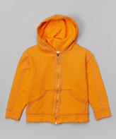 Flap Happy Orange Zip-Up Hoodie - Infant Toddler & Boys
