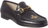 Gucci Bee Leather Loafer