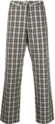 Walter Van Beirendonck Pre-Owned Royal check-print trousers