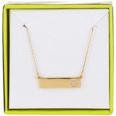 BaubleBar 14K Gold Plated Ice &Q& Initial Bar Pendant Necklace
