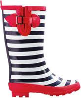 Joe Fresh Kid Girls' Belted Rain Boots, Blue (Size 6)
