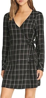 Sanctuary Upbeat Plaid Faux-Wrap Dress - 100% Exclusive