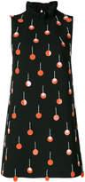 Au Jour Le Jour ruffle neck embellished dress