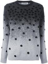 Sportmax gradient effect polka dot jumper