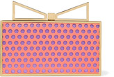 Sara Battaglia Lady Me laser-cut leather and satin clutch