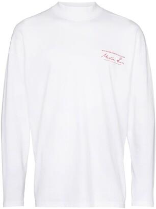 Martine Rose logo print long-sleeve T-Shirt