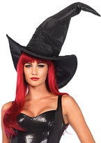 Leg Avenue Black Large Ruched Witch Hat