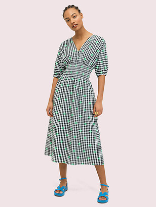 Kate Spade Gingham Voile Midi Dress