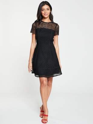 Very Lace Skater Dress - Black