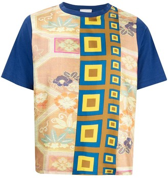 Pierre Louis Mascia Aloe printed front T-shirt