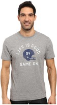 Life is Good Game On Football Helmet Crusher Tee