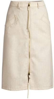 Agnona Zip-Up Front Skirt