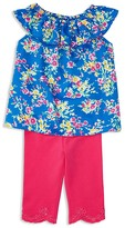 Ralph Lauren Girls' Floral Top & Leggings Set - Baby