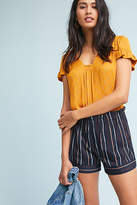 Harlyn Paperbag-Waisted Stripe Shorts