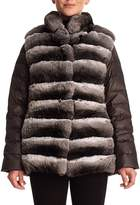 Gorski Chinchilla Fur & Silk Two-Piece Down Jacket