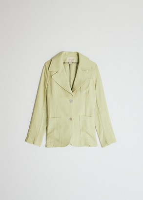 Paloma Wool Women's Dallas Blazer Jacket in Pastel Lemon, Size 34