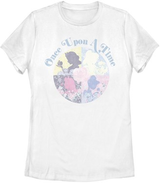 "Juniors' Disney's Princesses ""Once Upon A Time"" Floral Graphic Tee"