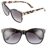 Juicy Couture Women's Black Label 56Mm Cat Eye Sunglasses - Black