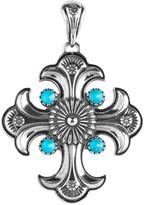 American West Sterling Turquoise Maltese CrossEnhancer