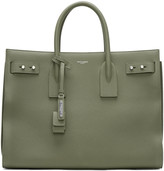 Saint Laurent Khaki Medium Sac de Jour Tote