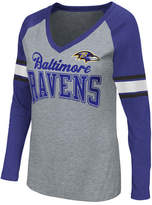 G-iii Sports Women's Baltimore Ravens In the Zone Long Sleeve T-Shirt