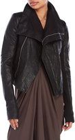 Rick Owens Lilies Washed Leather Moto Jacket