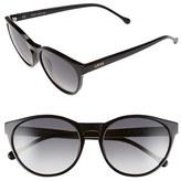 Loewe Women's 'Lips' 55Mm Keyhole Sunglasses - Black