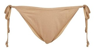 Dorothy Perkins Womens Dp Beach Gold Beaded Bikini Brief, Gold