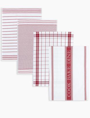 Marks and Spencer Set of 4 Assorted Design Tea Towels