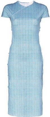 MARCIA TchikiBoum gingham-print midi dress