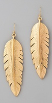 CC Skye Large Gold Feather Earrings