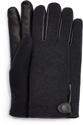 UGG Snap Tab Fabric Tech Gloves