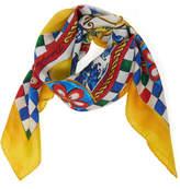 Dolce & Gabbana I Love Miolica Silk-Twill Scarf
