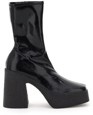 Stella McCartney Platform Square-Toe Boots