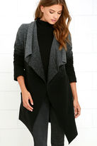 BB Dakota Kinney Grey and Black Ombre Coat