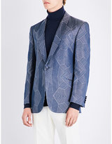 Richard James Geometric-patterned Regular-fit Silk Jacket