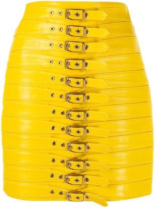 Manokhi Buckle-Detail Mini Skirt
